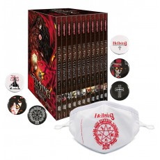 Hellsing Ultimate OVA - MEGA BUNDLE im Schuber DVD - Edition inkl. 6 Hellsing Buttons & Hellsing Mund- und Nasenmaske!