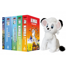Kimba, der weiße Löwe Komplett-Set MEGA-Bundle (inkl. Kimba,der weiße Löwe; BouBou, König der Tiere; Leo, der Löwenkönig; Jungle Emperor Leo & Stofftier!)