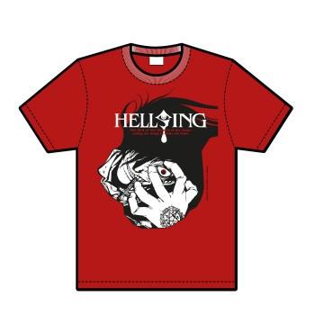 Hellsing Alucard-T-Shirt, rot