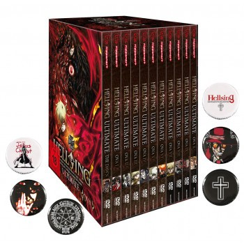 Hellsing Ultimate OVA - MEGA BUNDLE im Schuber DVD - Edition inkl. 6 Hellsing Buttons!