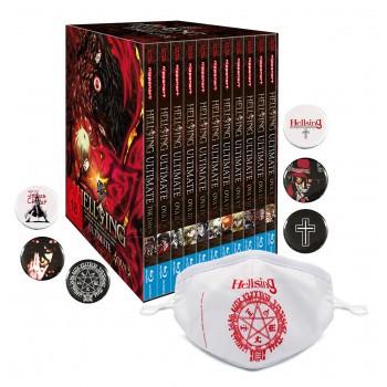 Hellsing Ultimate OVA - MEGA BUNDLE im Schuber Blu-ray - Edition inkl. 6 Hellsing Buttons & Hellsing Mund- und Nasenmaske!