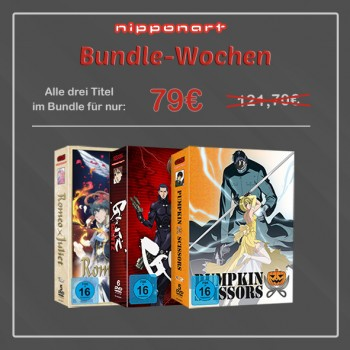 Nipponart Aktions-Bundle DVD (Romeo X Juliet, Gantz & Pumpkin Scissors)