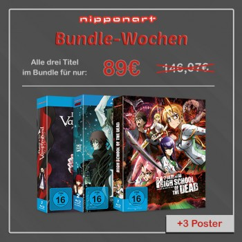 Nipponart Aktions-Bundle Blu-Ray (Highschool of the Dead, Dance in the Vampire Bund & RIN - Daughter of Mnemosyne)