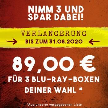 3 Blu-ray-Boxen für 89,00 €!