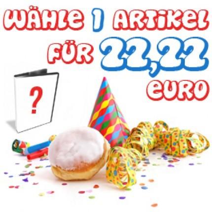 Wähle 2 Artikel für 22,22 Euro