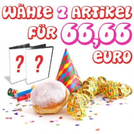 Wähle 2 Artikel für 66,66 Euro